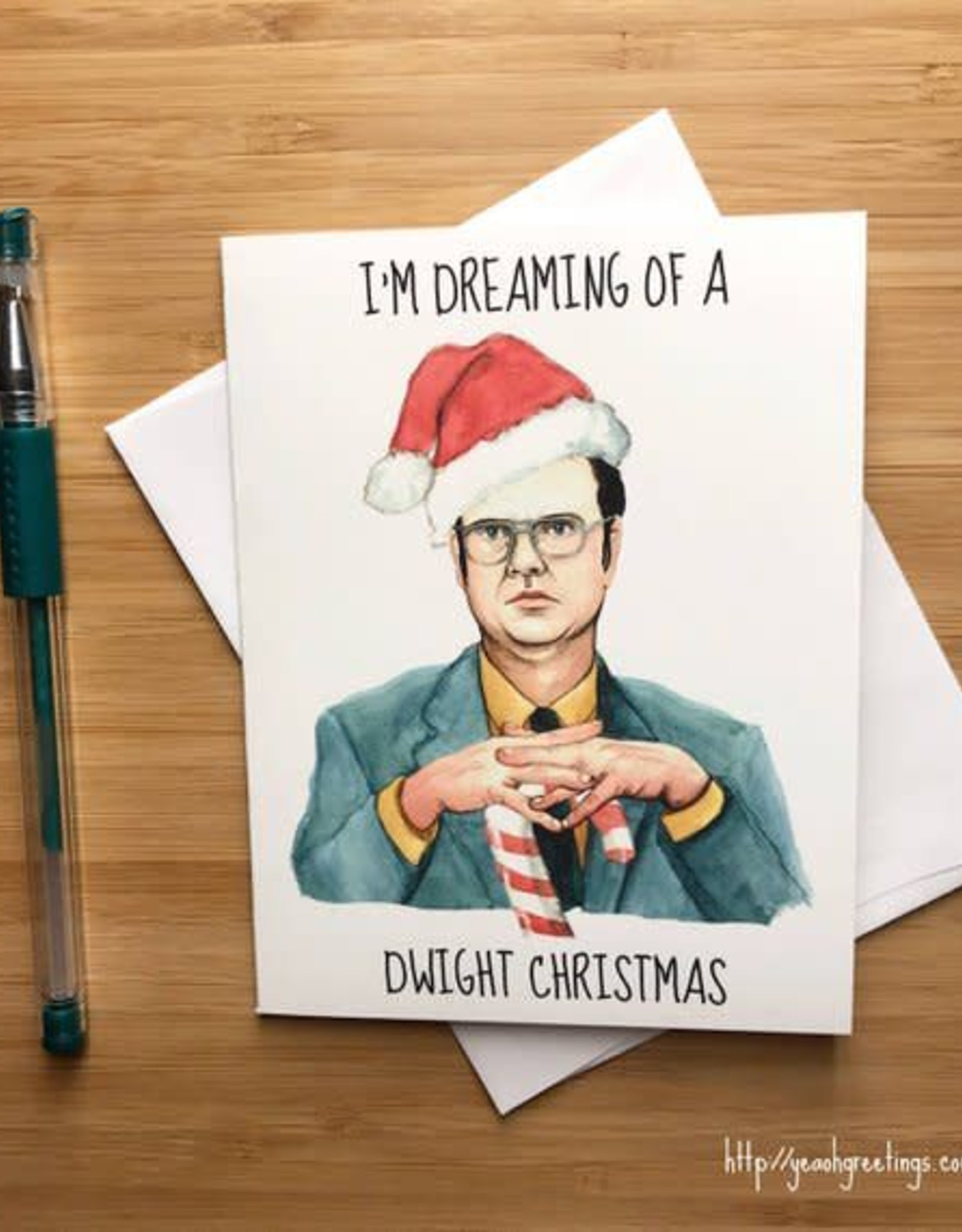 YeaOh Greetings Dreaming of a Dwight Christmas (The Office) Greeting Card