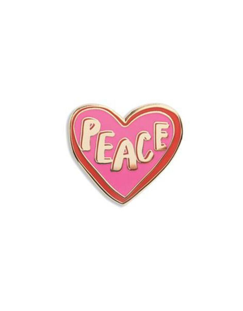 The Found Enamel Pin - Peace Heart