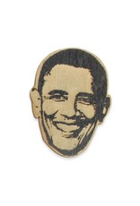 Letter Craft Barack Obama Wooden Pin