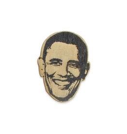 Barack Obama Wooden Pin
