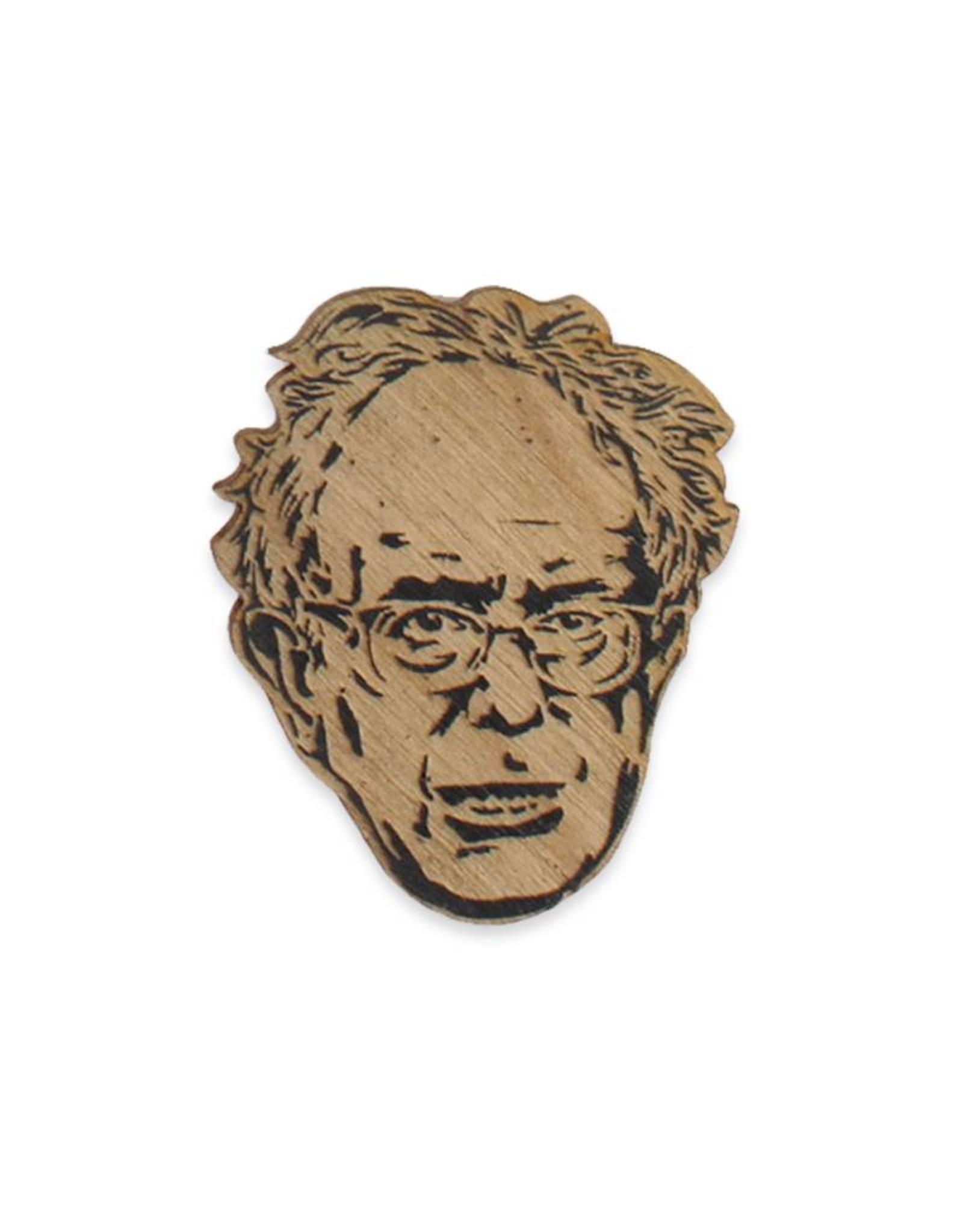 Bernie Sanders Wooden Pin