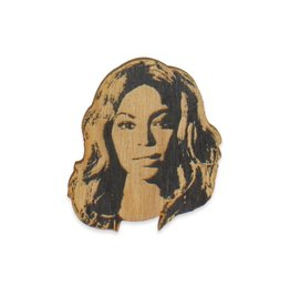 Letter Craft Beyonce Wooden Pin