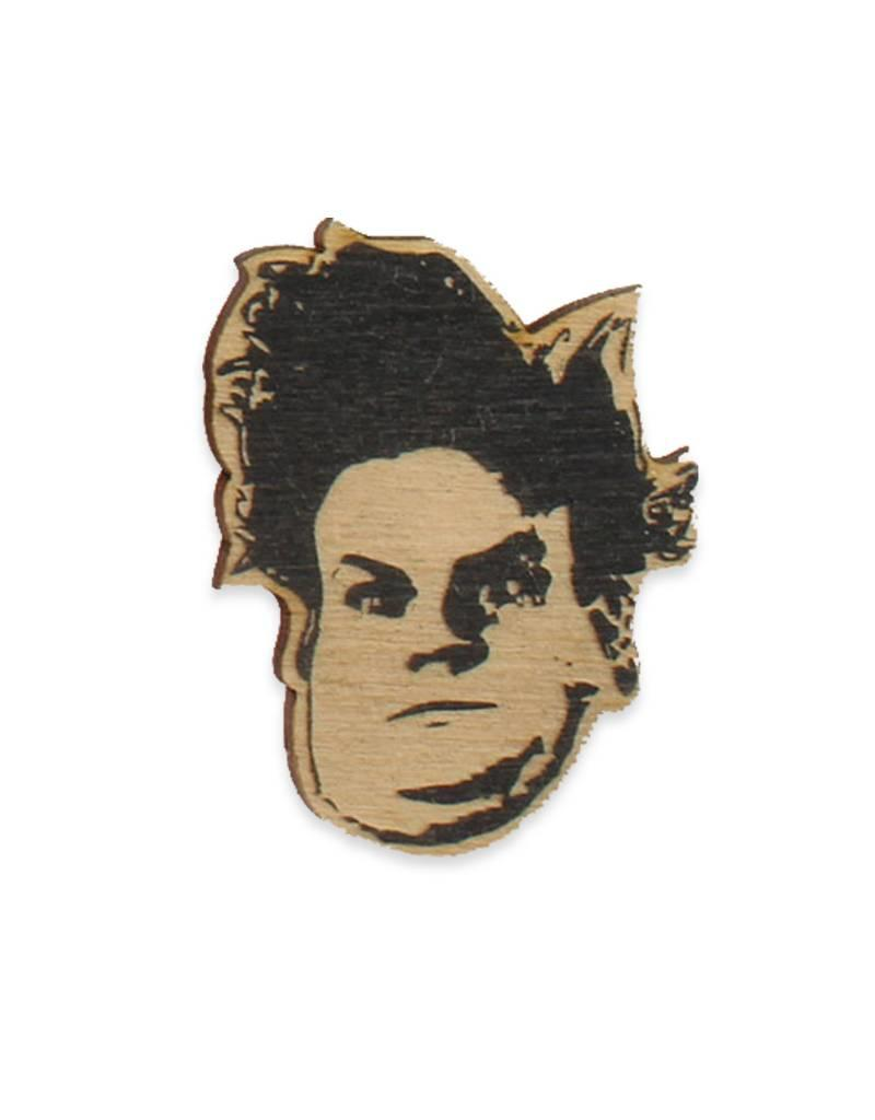 Letter Craft Chris Farley Wooden Pin