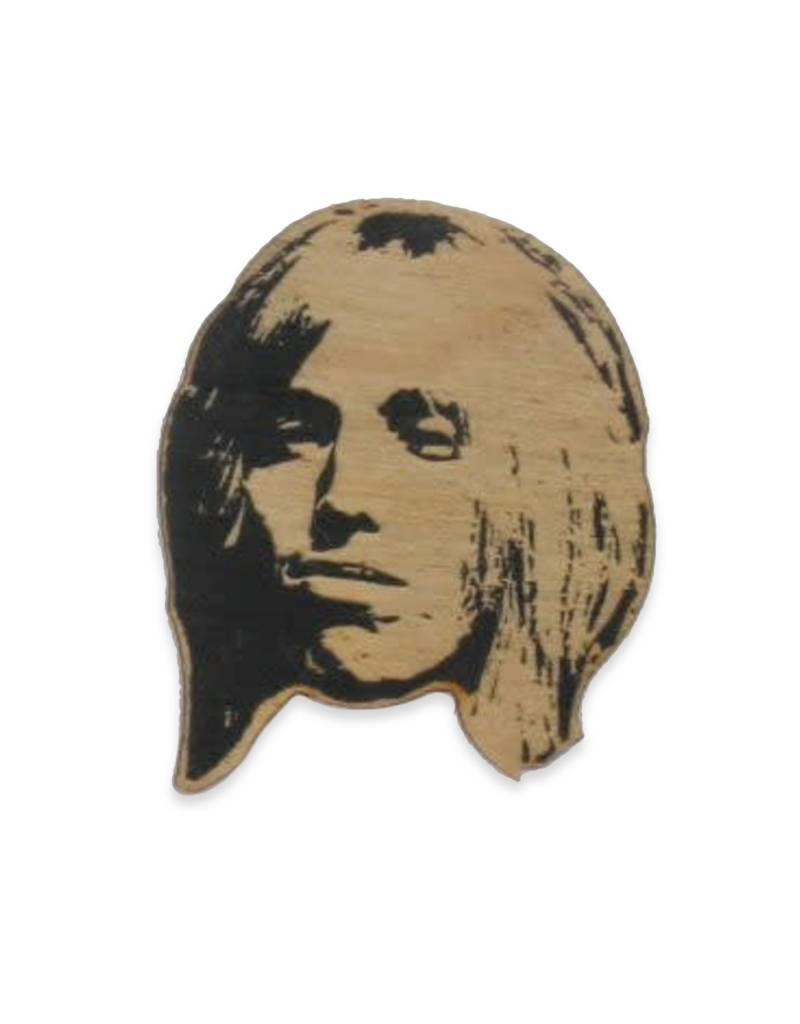 Letter Craft Tom Petty Wooden Pin