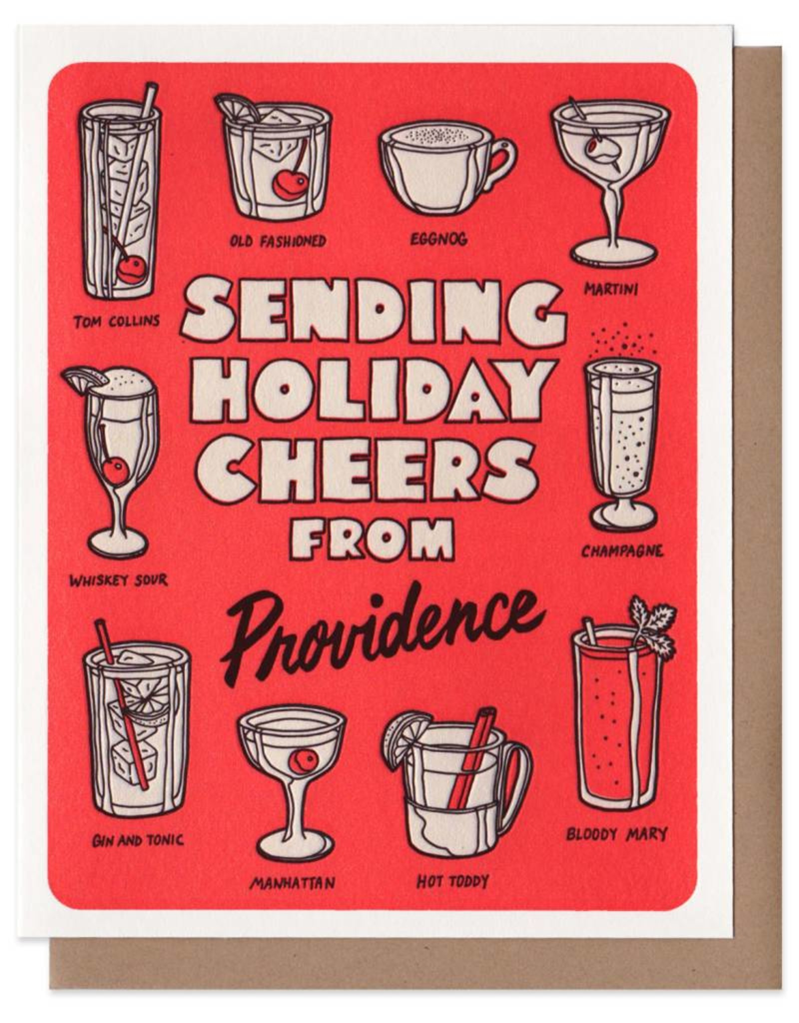 Sending Holiday Cheers From Providence Greeting Card