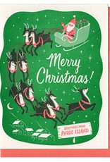 Lucky Horse Press Merry Christmas From Rhode Island Greeting Card