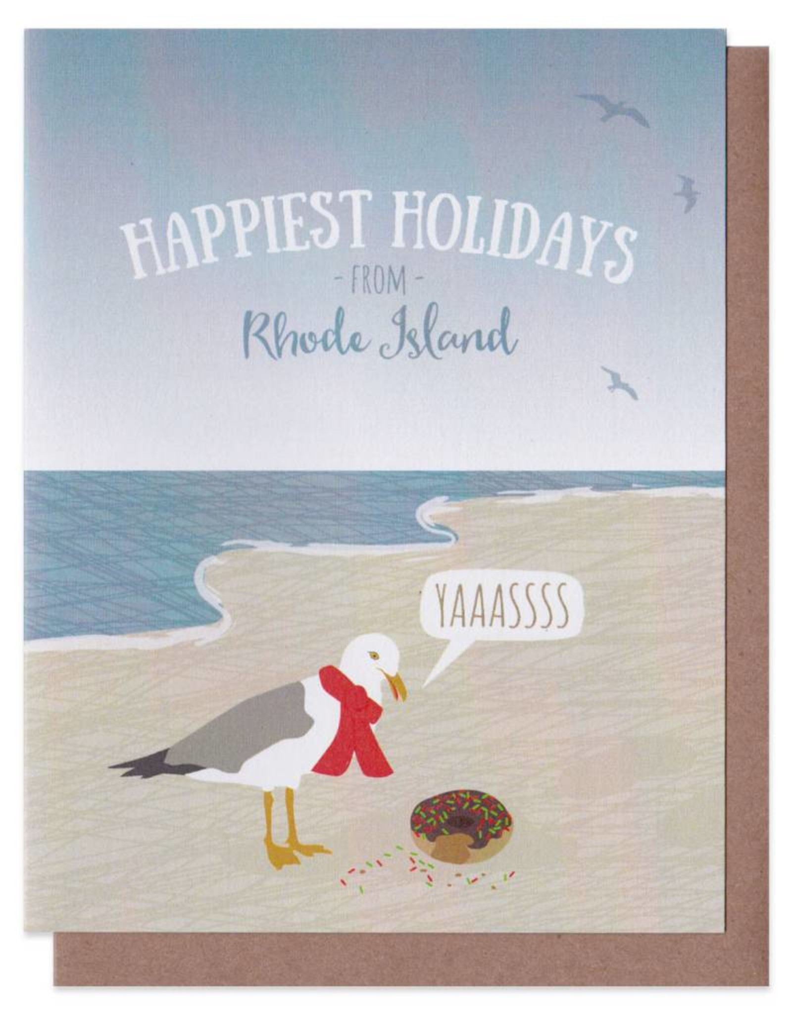 Seagull & Donut Greeting Card