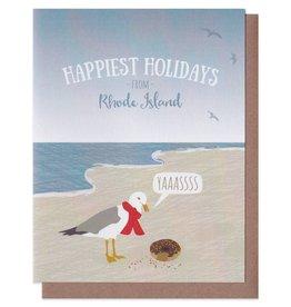 Modern Printed Matter Seagull & Donut Greeting Card