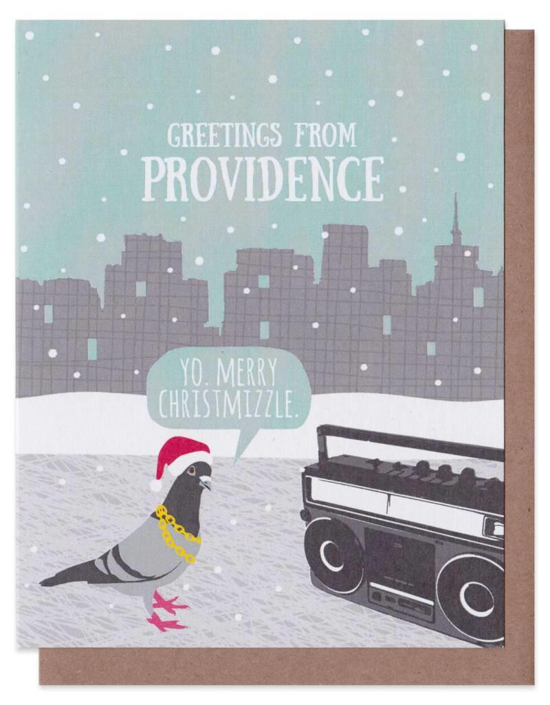 Modern Printed Matter Gangsta Pigeon Holiday Card