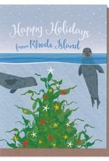 Modern Printed Matter Holiday Seals Greeting Card