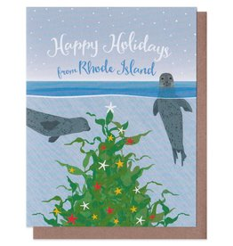 Modern Printed Matter Holiday Seals Greeting Card