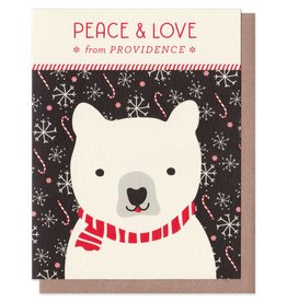 Night Owl Paper Goods Peace & Love Holiday Card