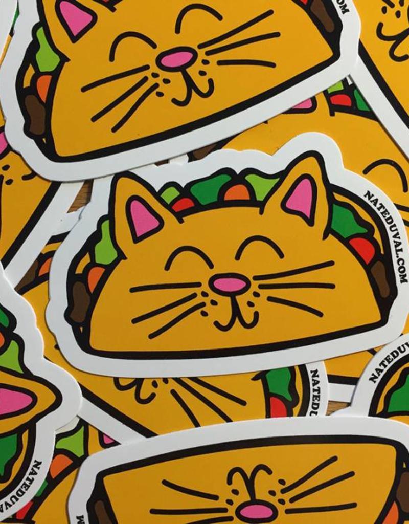 Nate Duval Taco Cat Sticker