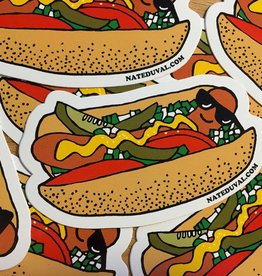 Nate Duval Hot Dog Sticker