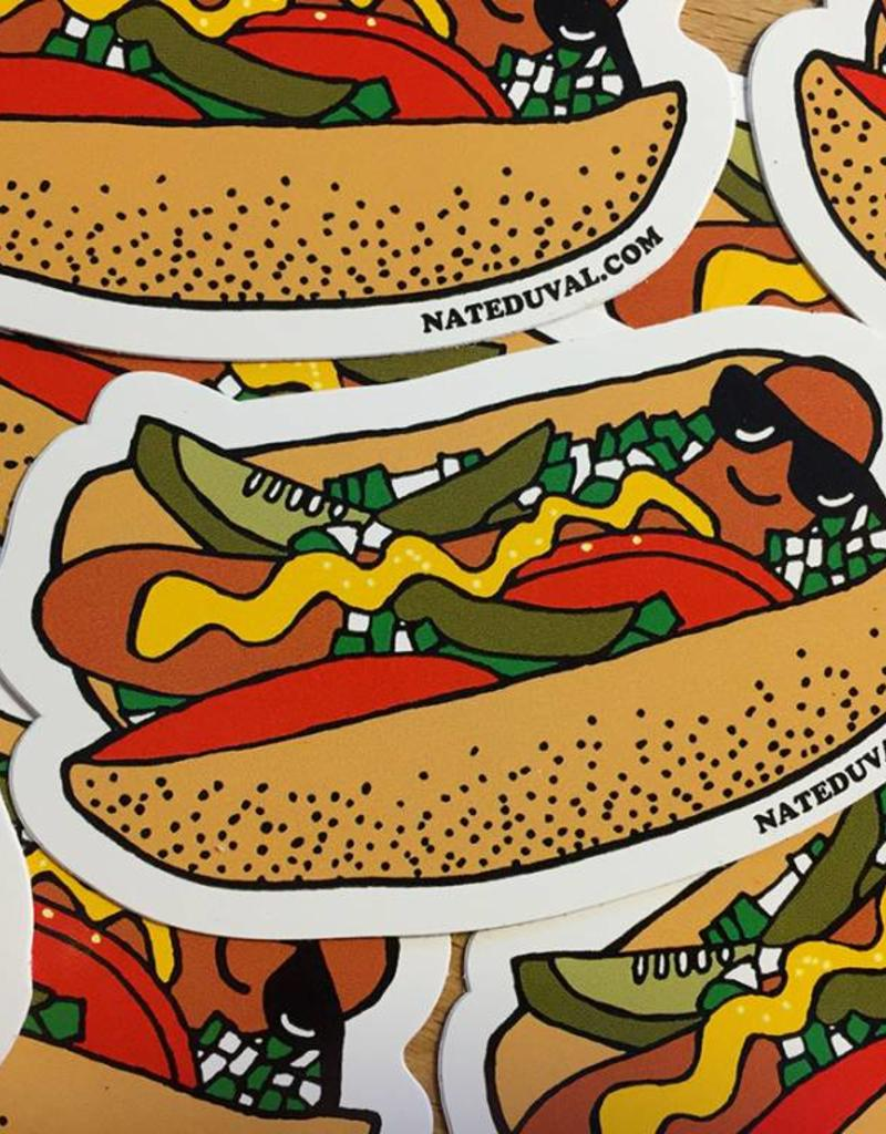 Nate Duval Hot Dog Sticker