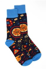 Abstract Pizza Socks