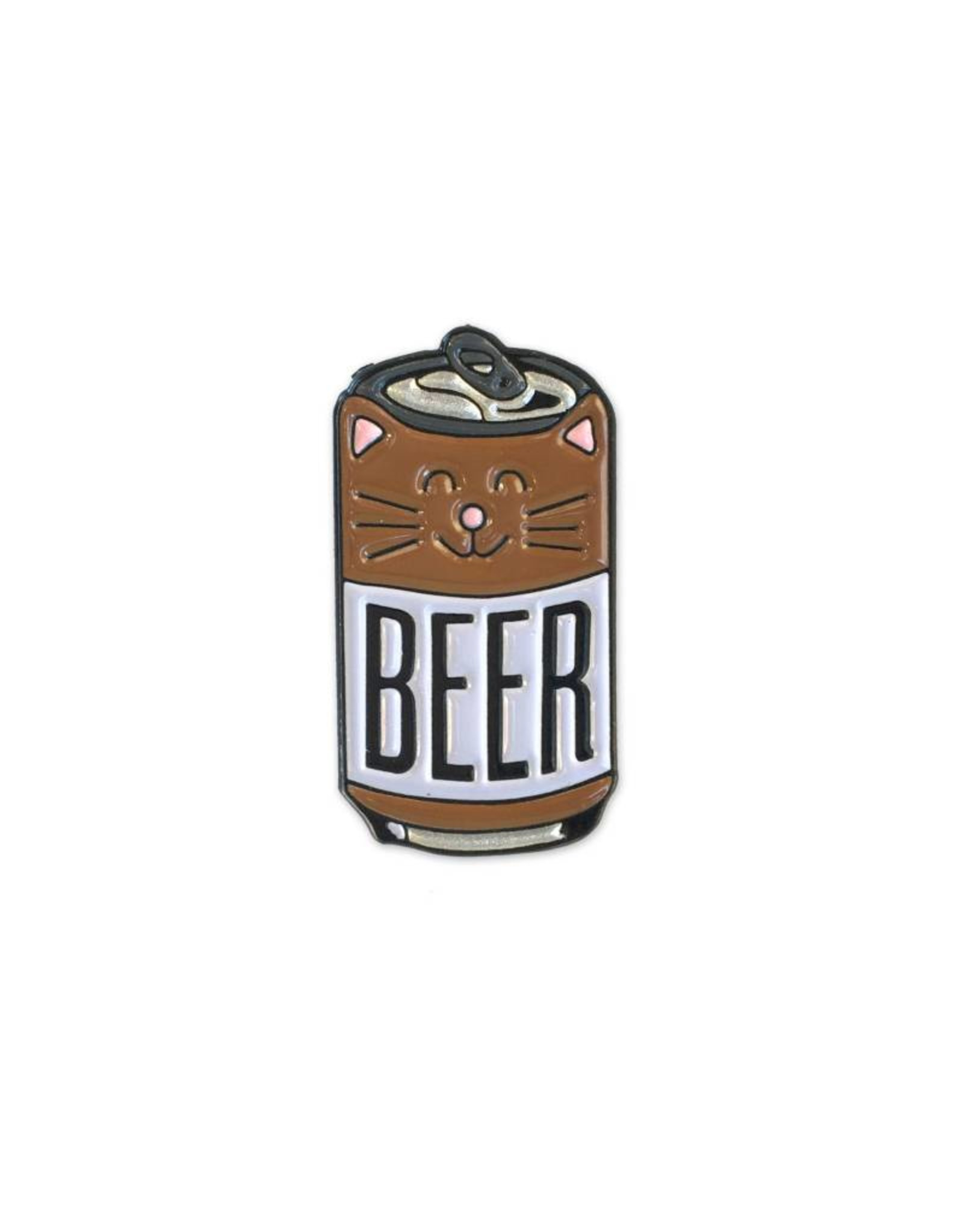 Beer Cat Enamel Pin