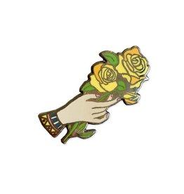 Nate Duval Yellow Rose Enamel Pin