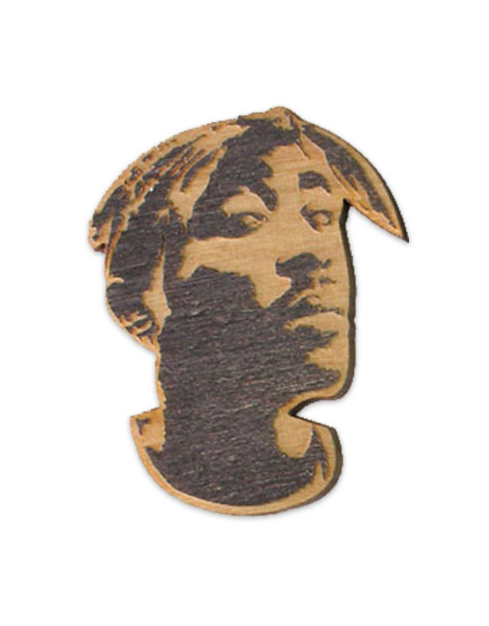 Tupac Wooden Magnet