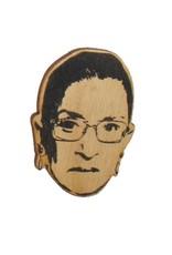 Letter Craft Ruth Bader Ginsberg RGB Wooden Magnet