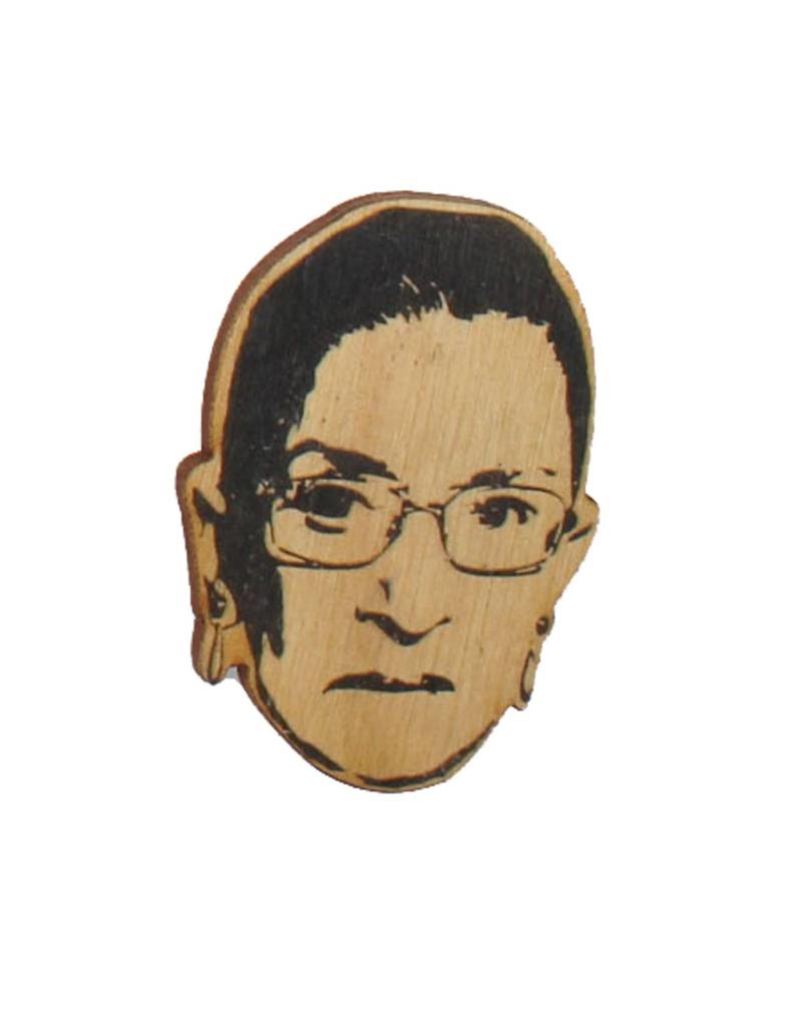 Ruth Bader Ginsburg RGB Wooden Magnet