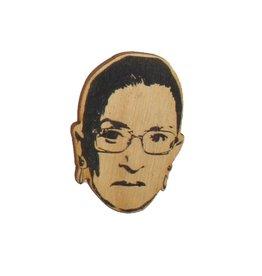 Ruth Bader Ginsburg RBG Wooden Magnet