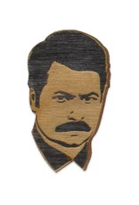 Letter Craft Ron Swanson Wooden Magnet