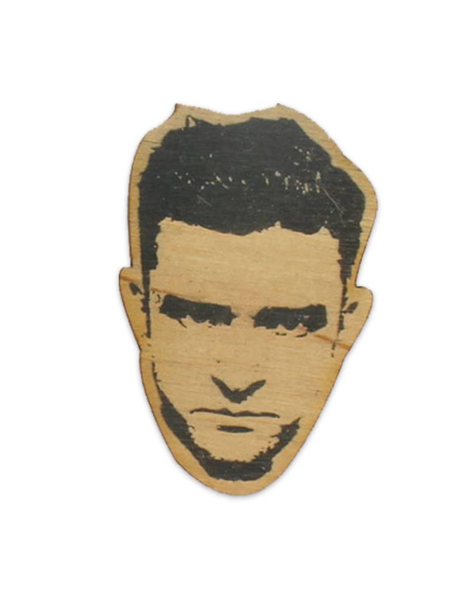 Justin Timberlake Wooden Magnet