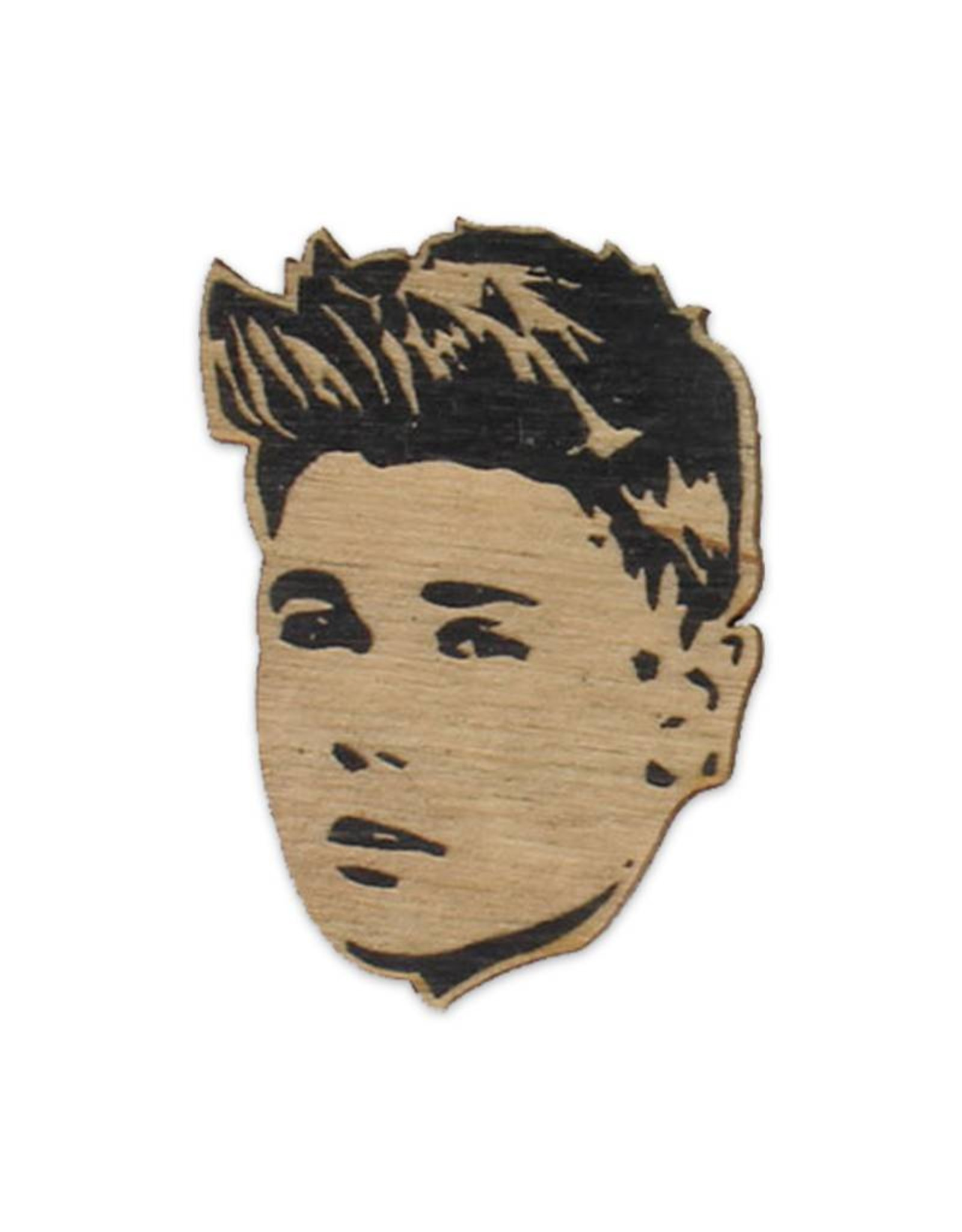 Justin Bieber Wooden Magnet