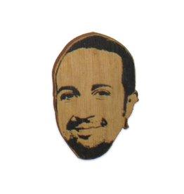 Lin-Manuel Miranda Wooden Magnet