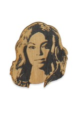 Letter Craft Beyonce Wooden Magnet