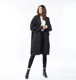 Look By M Bounce Wool Cardigan - Black