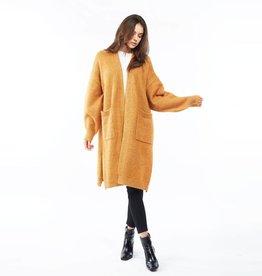 Look By M Bounce Wool Cardigan - Mustard
