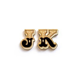 Frog & Toad Press 2 Letters Enamel Pin Set