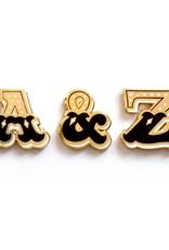 Frog & Toad Press Ampersand Enamel Pin Set of 3