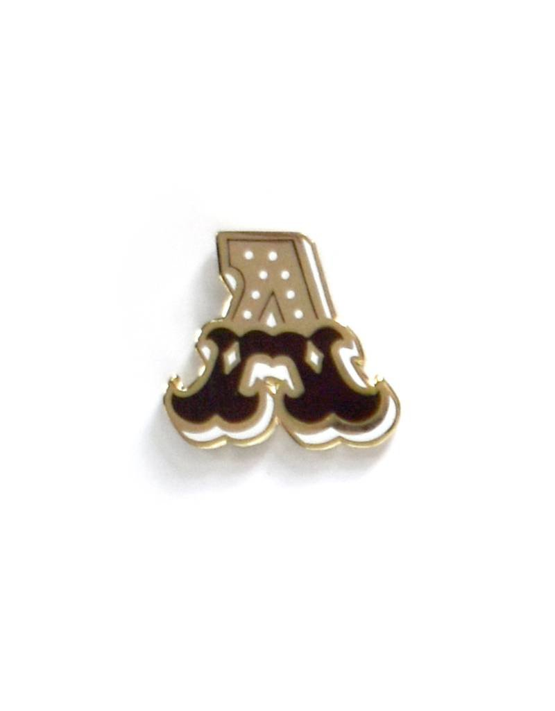 Frog & Toad Press Letter A Enamel Pin