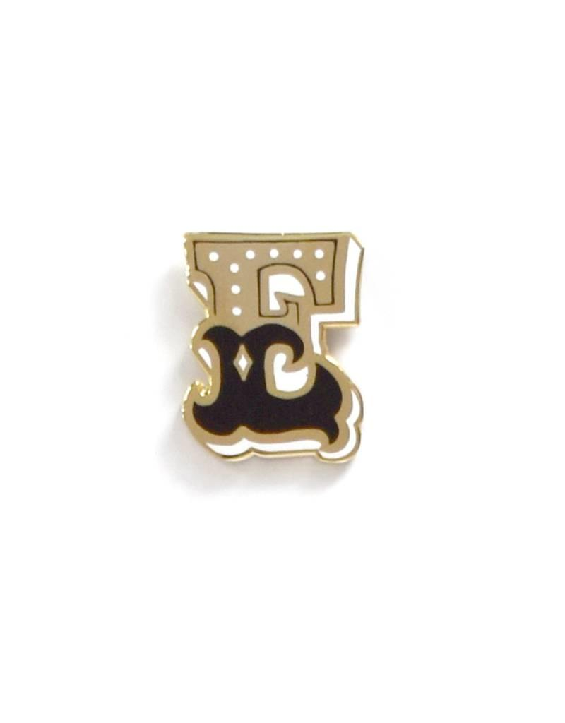 Frog & Toad Press Letter E Enamel Pin
