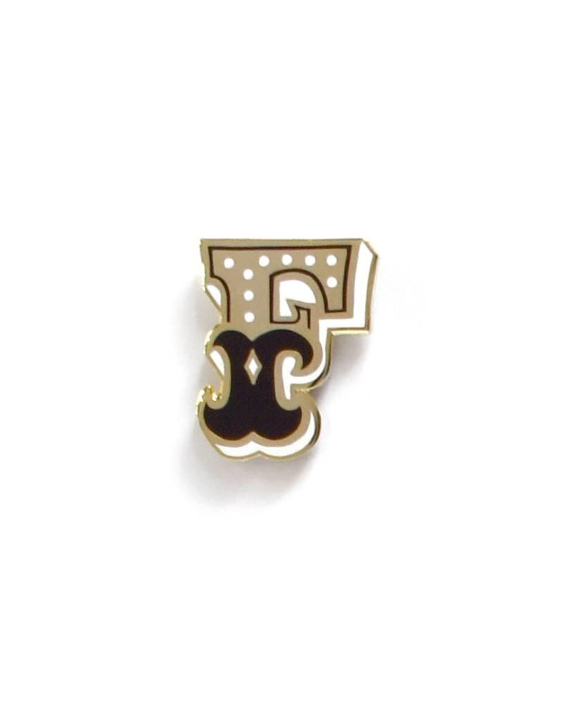 Frog & Toad Press Letter F Enamel Pin