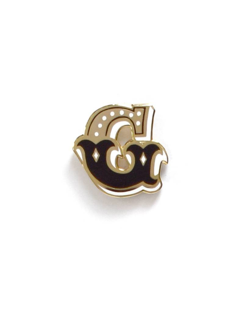 Frog & Toad Press Letter G Enamel Pin