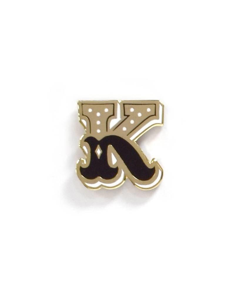 Frog & Toad Press Letter K Enamel Pin