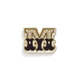 Frog & Toad Press Letter M Enamel Pin