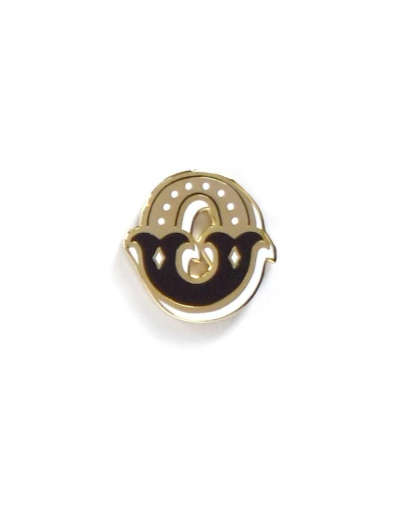 Frog & Toad Press Letter O Enamel Pin