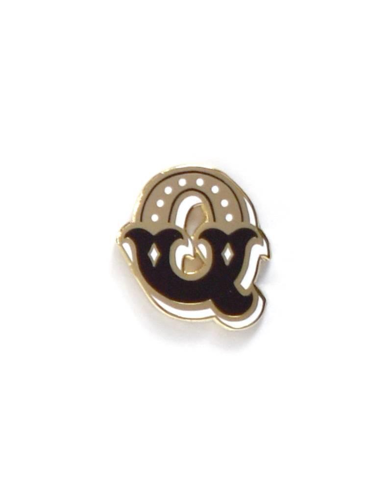 Frog & Toad Press Letter Q Enamel Pin