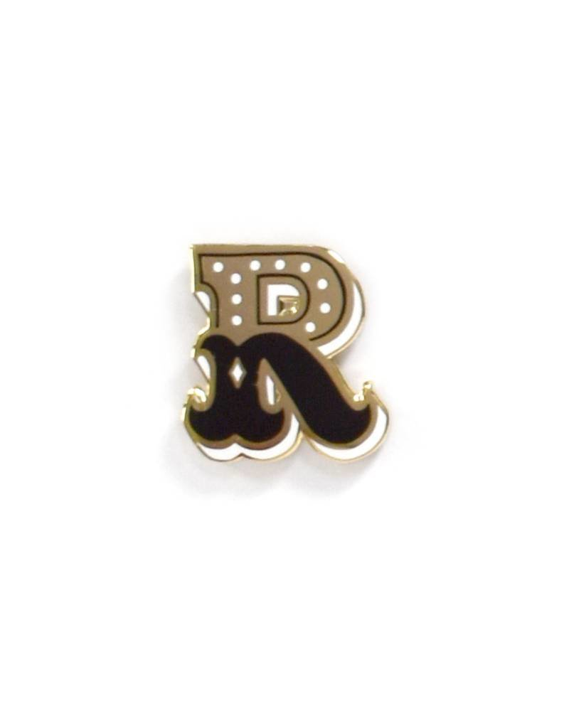 Frog & Toad Press Letter R Enamel Pin