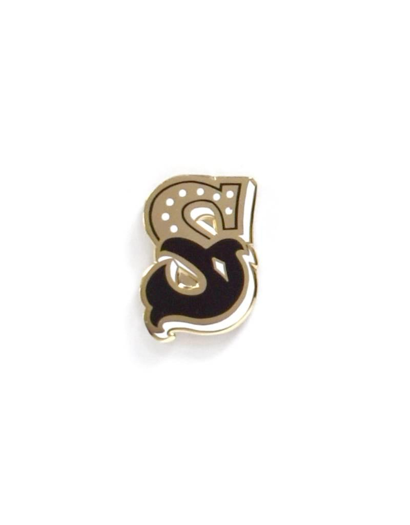 Frog & Toad Press Letter S Enamel Pin