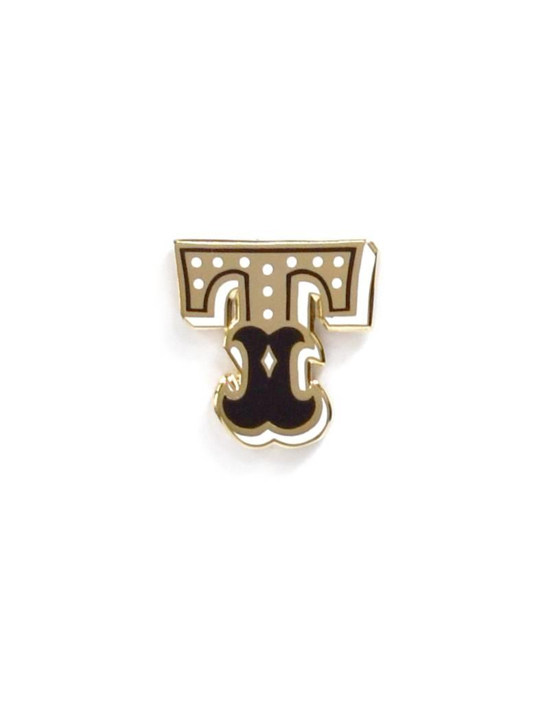 Frog & Toad Press Letter T Enamel Pin