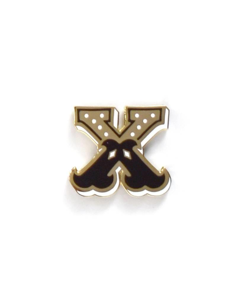 Frog & Toad Press Letter X Enamel Pin
