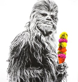 Authorized to Work Press Chewbacca Risograph Print