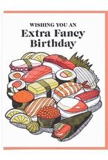 Extra Fancy Sushi Birthday Greeting Card
