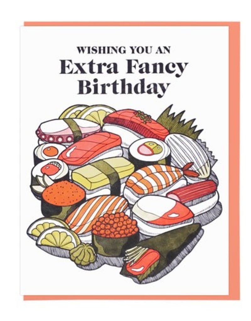 Lucky Horse Press Wishing You An Extra Fancy Birthday Greeting Card